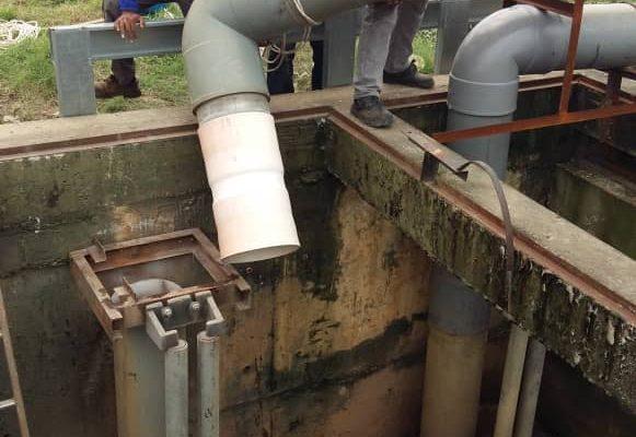 Drain water pump _ piping