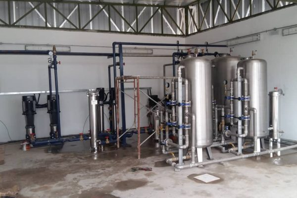 Installation of pumps - Filtration system at BK 2 Gardenia